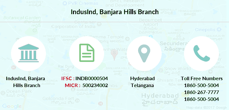 hdfc bank banjara hills branch hyderabad ifsc code