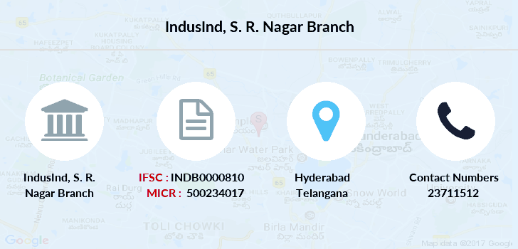 micr code of icici bank sr nagar branch hyderabad