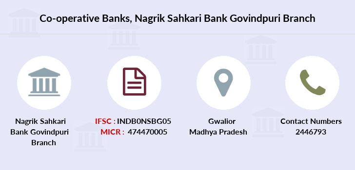 Co-operative-banks Nagrik-sahkari-bank-govindpuri branch