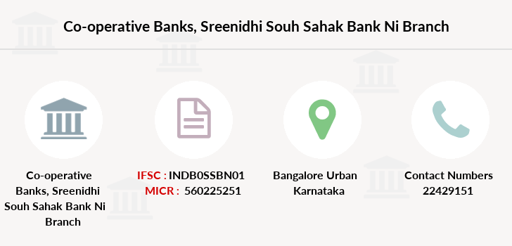 Co-operative-banks Sreenidhi-souh-sahak-bank-ni branch