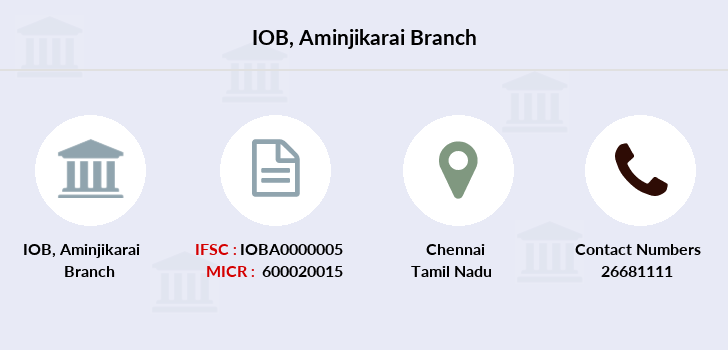 Indian-overseas-bank Aminjikarai branch