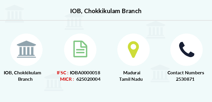 Indian-overseas-bank Chokkikulam branch