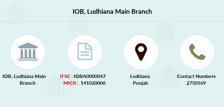 Indian-overseas-bank Ludhiana-main branch