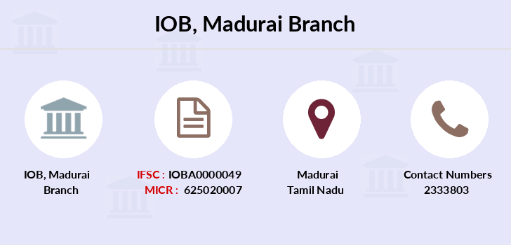 Indian-overseas-bank Madurai branch