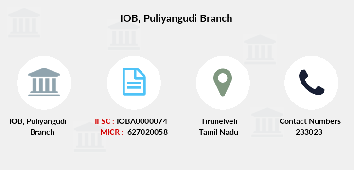 Indian-overseas-bank Puliyangudi branch