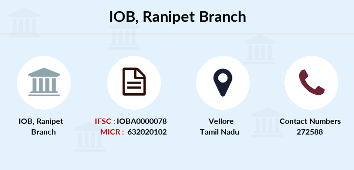 Indian-overseas-bank Ranipet branch