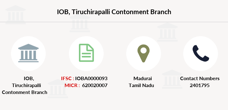 Indian-overseas-bank Tiruchirapalli-contonment branch