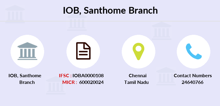 Indian-overseas-bank Santhome branch