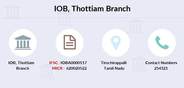 Indian-overseas-bank Thottiam branch