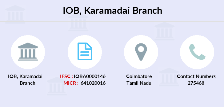 Indian-overseas-bank Karamadai branch