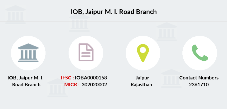 Indian-overseas-bank Jaipur-m-i-road branch