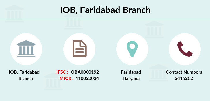Indian-overseas-bank Faridabad branch