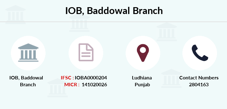 Indian-overseas-bank Baddowal branch