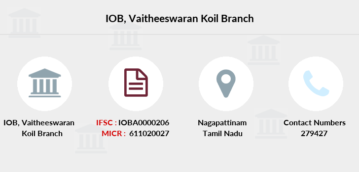 Indian-overseas-bank Vaitheeswaran-koil branch