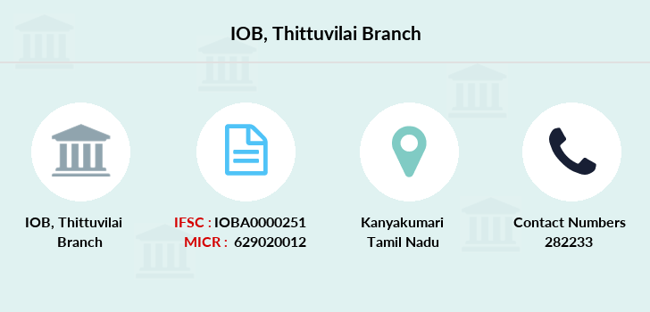 Indian-overseas-bank Thittuvilai branch
