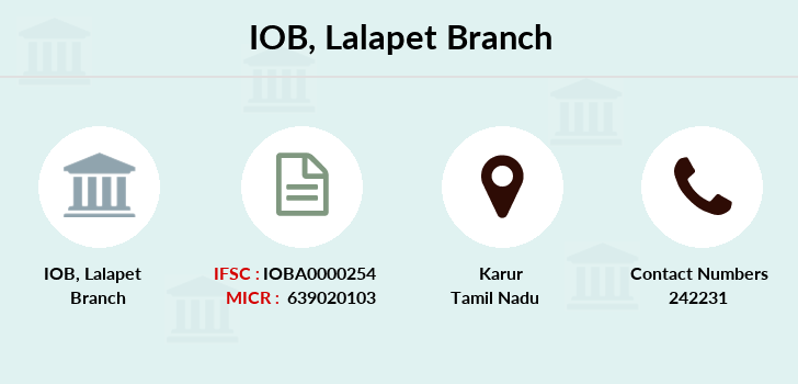 Indian-overseas-bank Lalapet branch