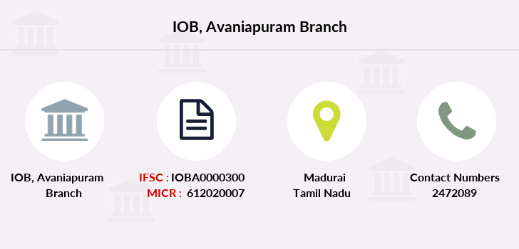 Indian-overseas-bank Avaniapuram branch