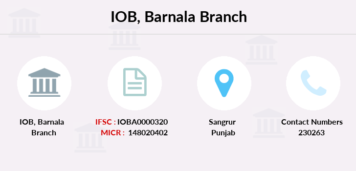 Indian-overseas-bank Barnala branch