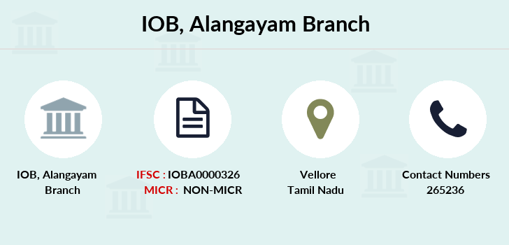 Indian-overseas-bank Alangayam branch
