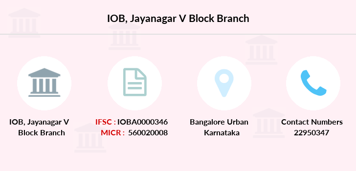 Indian-overseas-bank Jayanagar-v-block branch