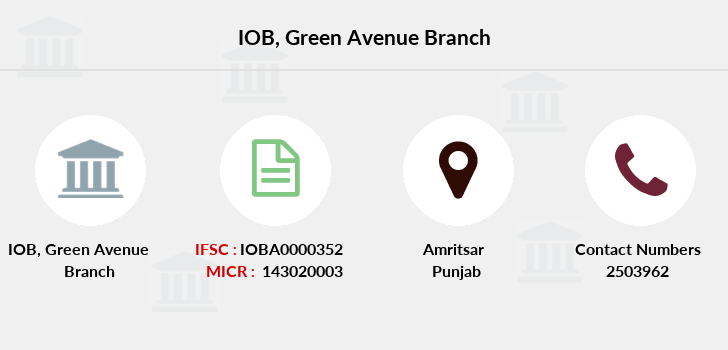 Indian-overseas-bank Green-avenue branch
