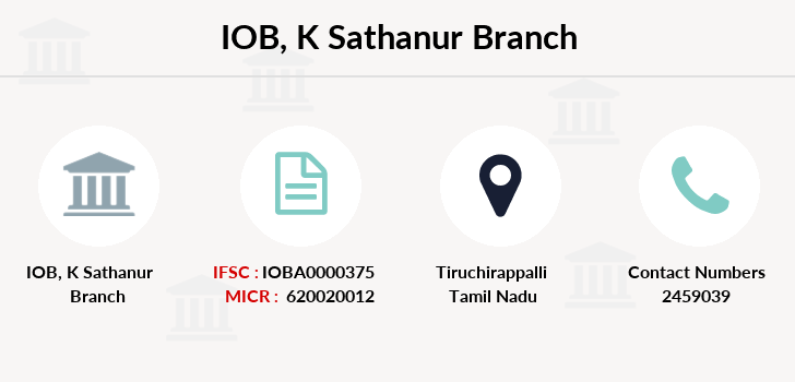 Indian-overseas-bank K-sathanur branch