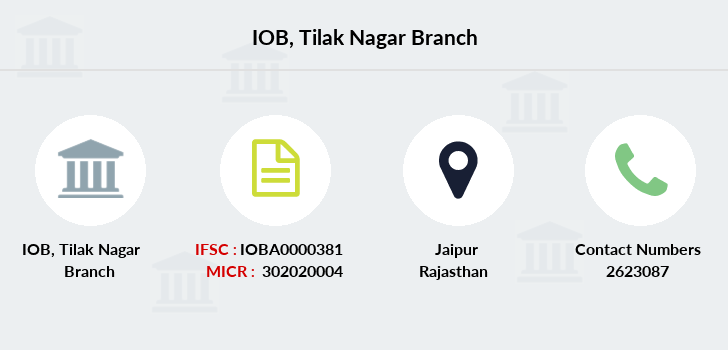 Indian-overseas-bank Tilak-nagar branch