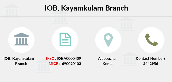 Indian-overseas-bank Kayamkulam branch