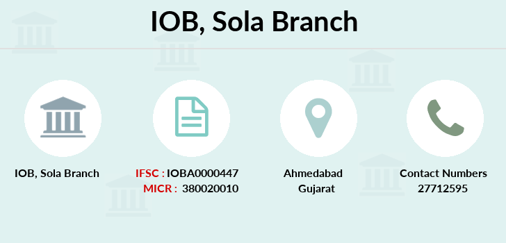 Indian-overseas-bank Sola branch