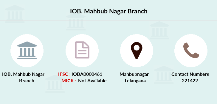 Indian-overseas-bank Mahbub-nagar branch