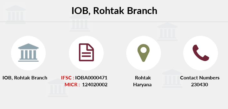 Indian-overseas-bank Rohtak branch