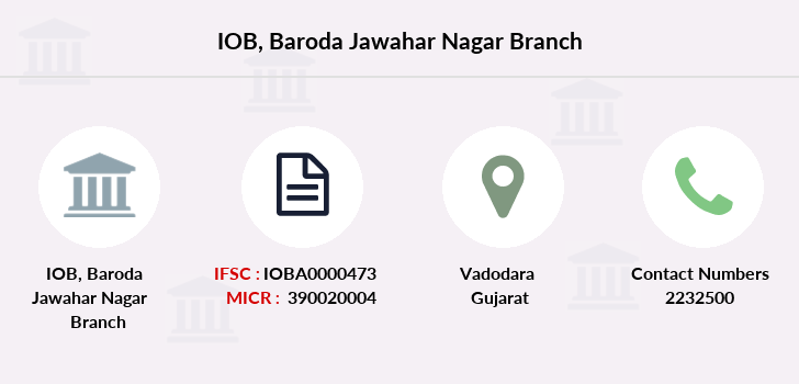 Indian-overseas-bank Baroda-jawahar-nagar branch