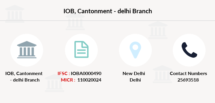Indian-overseas-bank Cantonment-delhi branch