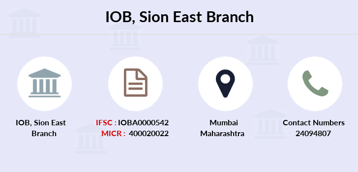 Indian-overseas-bank Sion-east branch
