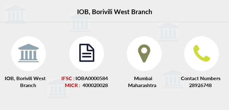 Indian-overseas-bank Borivili-west branch