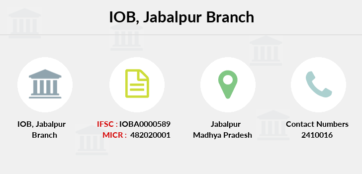 Indian-overseas-bank Jabalpur branch
