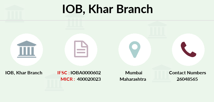 Indian-overseas-bank Khar branch