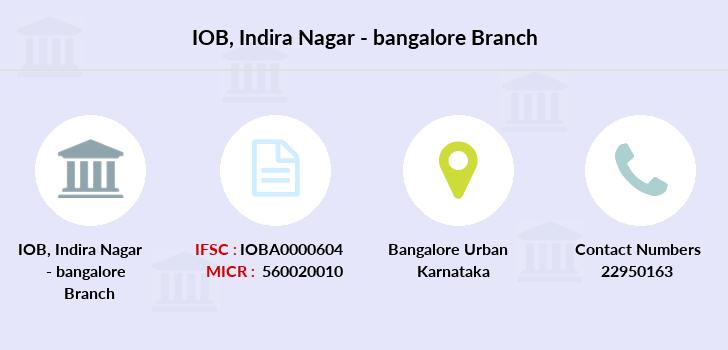 indian overseas bank indira nagar bangalore ifsc code