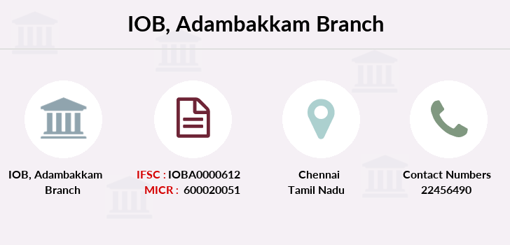 Indian-overseas-bank Adambakkam branch