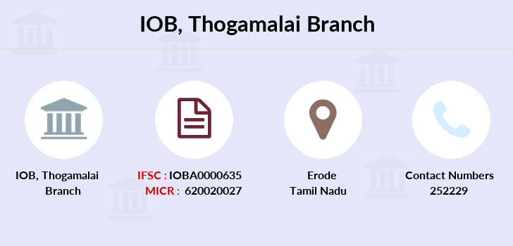 Indian-overseas-bank Thogamalai branch