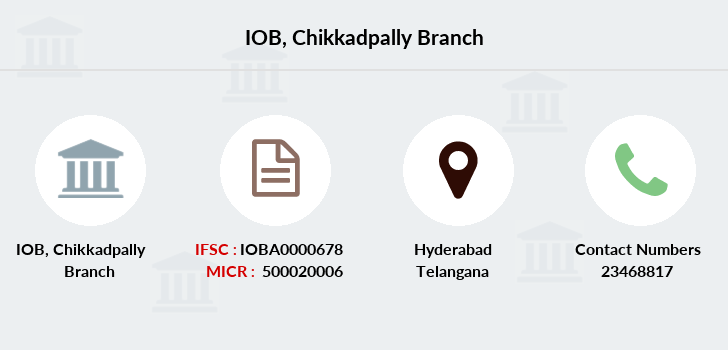 Indian-overseas-bank Chikkadpally branch