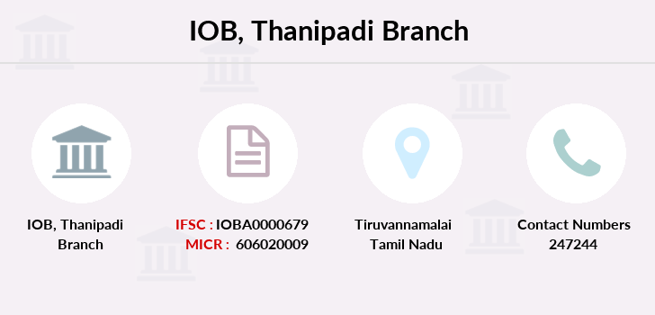 Indian-overseas-bank Thanipadi branch