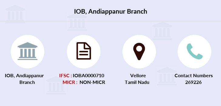 Indian-overseas-bank Andiappanur branch