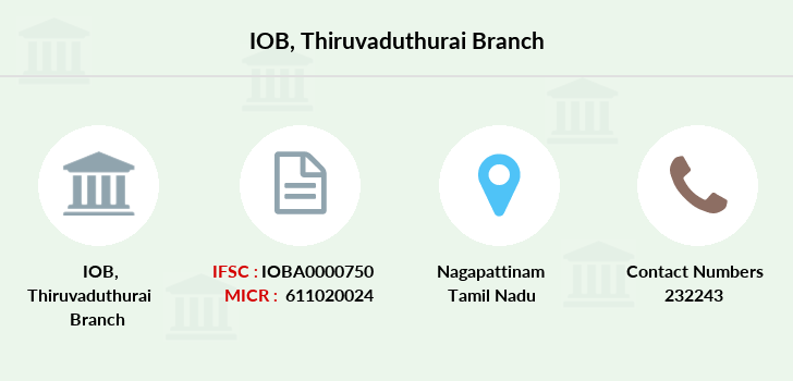 Indian-overseas-bank Thiruvaduthurai branch