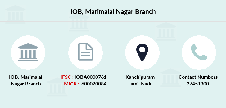 Indian-overseas-bank Marimalai-nagar branch
