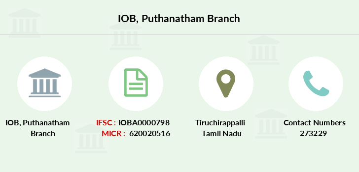 Indian-overseas-bank Puthanatham branch