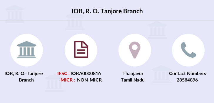 Indian-overseas-bank R-o-tanjore branch