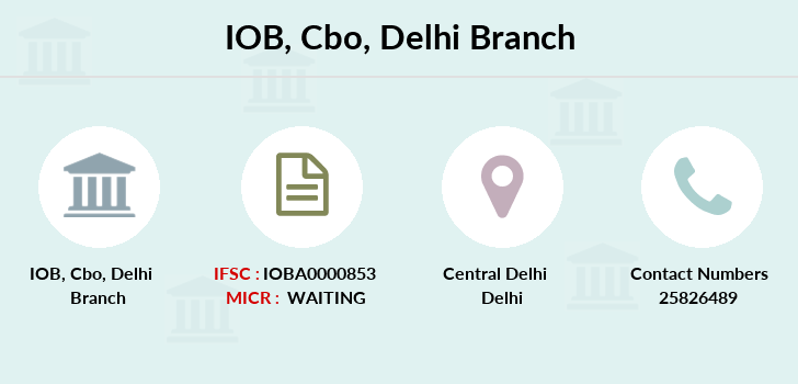 Indian-overseas-bank Cbo-delhi branch