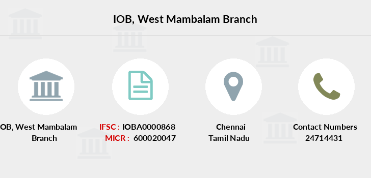 Indian-overseas-bank West-mambalam branch