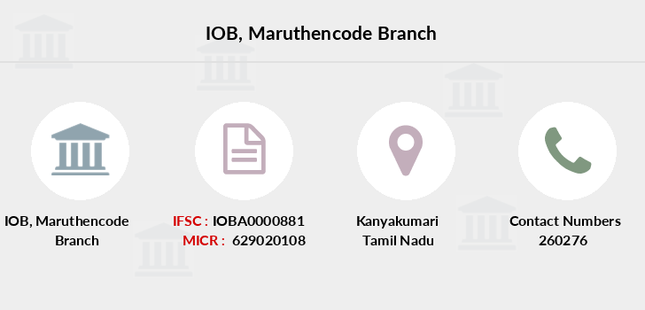 Indian-overseas-bank Maruthencode branch